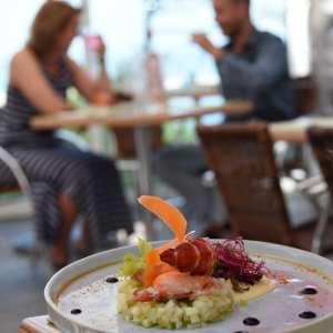 Restaurant face à la mer camping le panorama du pyla