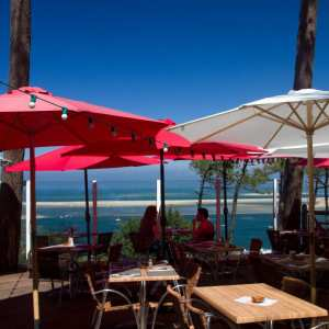 belle vue du restaurant camping panorama du pyla bassin d'arcachon