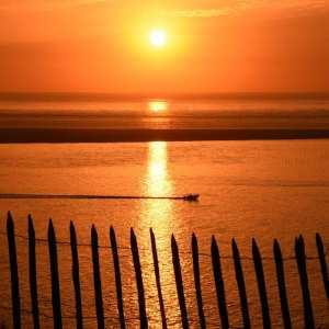 paysage coucher de soleil le banc d'arguin charente maritime